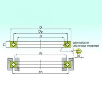 160 mm x 220 mm x 25 mm  ISB RB 16025 thrust roller bearings
