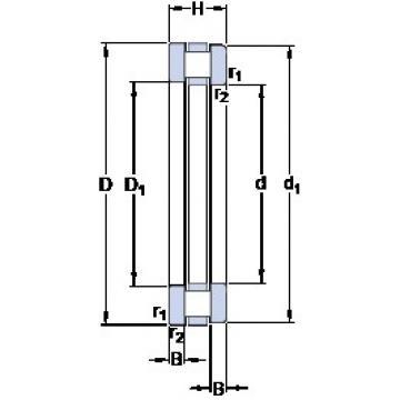 35 mm x 52 mm x 3.5 mm  SKF 81107 TN thrust roller bearings