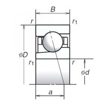 6 mm x 17 mm x 6 mm  NSK 6BGR10S angular contact ball bearings