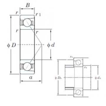12 mm x 24 mm x 6 mm  KOYO 7901C angular contact ball bearings