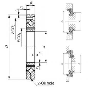 25 mm x 80 mm x 12 mm  IKO CRBF 2512 AT thrust roller bearings