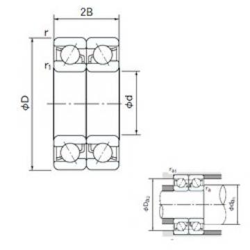 85 mm x 150 mm x 28 mm  NACHI 7217BDB angular contact ball bearings