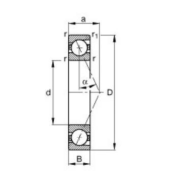 20 mm x 37 mm x 9 mm  FAG B71904-E-T-P4S angular contact ball bearings